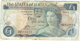 Jersey - Billet De 1 Pound - Elizabeth II - Non Daté - P11a - 1 Pond