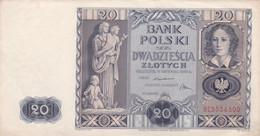 Pologne - Billet De 20 Zlotych - 11 Novembre 1936 - P77 - Poland