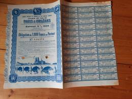 CHEMIN DE FER DE PARIS A ORLEANS. 1934-1949. Bon 1000 F. ( 1obligation  ) 1 Bond - Sin Clasificación