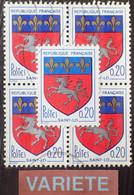 R1507/768 - 1966 - BLASON De SAINT LÔ - N°1510 ☉ - VARIETE ➤➤➤ Bleu Clair - Varieties: 1960-69 Used