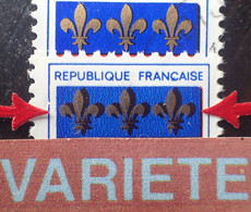 R1507/769 - 1966 - BLASON De SAINT LÔ - N°1510 ☉ - VARIETE ➤➤➤ Fortes Ombres Derrière Les Lys - Varieties: 1960-69 Used