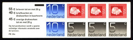 Netherlands Booklet 1976 PB 20a Queen Juliana And Numerals - Libretti
