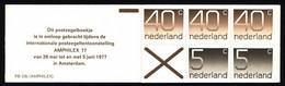Netherlands Booklet 1977 PB 23b Numerals - Libretti