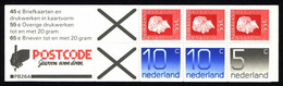 Netherlands Booklet 1981 PB 26a Queen Juliana And Numerals - Libretti
