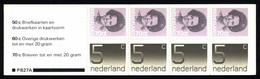 Netherlands Booklet 1982 PB 27a Queen Juliana And Numerals - Libretti