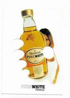 CPM Publicité Alcool Cognac Pure White HENNESSY - A Système 5 Trous Qui Représentent Les Doigts De La Main Attrapant La - Advertising