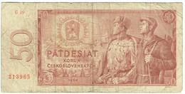 Tchécoslovaquie - Billet De 50 Korun - 1964 - P90b - Tsjechoslowakije