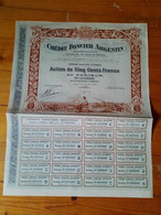 CREDIT FONCIER ARGENTIN  -  1 Action  / Bond De 500 Francs Au Porteur  -  1920 - Sin Clasificación