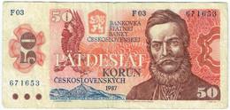 Tchécoslovaquie - Billet De 50 Korun - Ludovit Stur - 1987 - P96a - Czechoslovakia