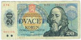 Tchécoslovaquie - Billet De 20 Korun - Jan Amos Komensky - 1988 - P95 - Tsjechoslowakije