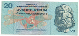 Tchécoslovaquie - Billet De 20 Korun - Jan Ziska - 1970 - P92 - Czechoslovakia