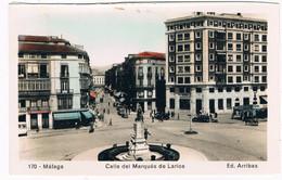 ES-2572  MALAGA : Calle Del Marques De Larios ( Card Is From A Booklet/fold Out ) - Málaga