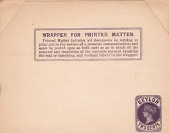 Ceylon-Postal Material- Wrapper For Printed Matter -Unused #25 - Ceylon (...-1947)