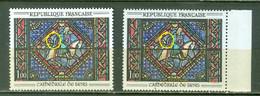 France  1427  En 2 Exemplaires   * *  TB  Avec Avant-bras Vert Et Rouge - Variétés: 1960-69 Neufs