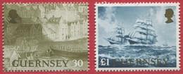 GROSSBRITANNIEN-GUERNSEY / MiNr. 739 - 740 / Internationale Briefmarkenausstellung PACIFIC '97 / Postfrisch / ** / MNH - Ships