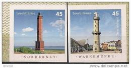 2011  Deutschland Germany  2875-6**MNH  Booklet Stamp Leuchttürme:  Norderney + Warnemünde - Unused Stamps