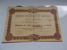 ENERGIE ELECTRIQUE DU QUEYRAS (aiguilles HAUTES ALPES) - Sin Clasificación