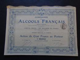 FRANCE - PARIS 1903 - CIE DES ALCOOL FRANCAIS - ACTION DE 100 FRS - Sin Clasificación