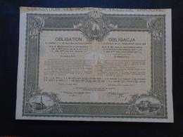 POLOGNE - VARSOVIE 1931 - EMPRUNT 4 1/2% DE LA VILLE DE VARSOVIE - OBLIGATION DE 284 FRS - - Sin Clasificación