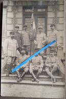 1915 1916 Champagne Perthes Drapeau 20 Eme RI Régiment Infanterie Officiers Montauban Gisors Ww1 14-18 Photo Poilu - Guerra, Militares