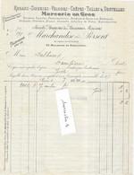 """1904 / Facture MARCHANDISE & PERSENT / Colis Postal / Griffe Assurance """"Colis Assuré""""/ Rubans Soieries / Paris - Covers & Documents"""