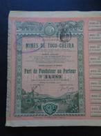 PEROU - LOT DE 2 TITRES - STE DES MINES DE TUCO-CHEIRA , PART DE FONDATEUR - PARIS 1905 - DECO - Sin Clasificación