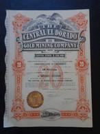 USA - ARIZONA, PHOENIX 1910 - THE CENTRAL EL DORADO GOLD MINING - TITRE DE 20 ACTIONS DE 1 $ - PEU COURANT - Sin Clasificación
