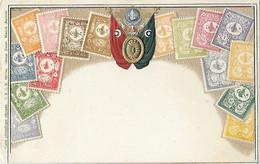 Représentation Du Timbre - Timbres - Carte Gaufrée - TURQUIE - UPU - Union Postale Universelle - - Stamps (pictures)
