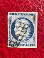 TIMBRE DE FRANCE CERES  OBLITERE  Y&T N°4 - Cote 65 - 1849-1850 Ceres