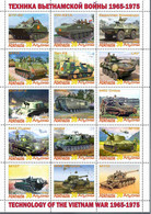 Fantazy Labels / Private Issue / History.  Military Technology, Tanks In The Vietnam War 1965-1975 - Vignettes De Fantaisie