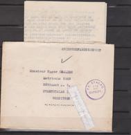 MARCOPHILIE - MILITARIA - COMPIEGNE - FRONTSTALAG 122, Courrier Adressé à Un Prisonnier Et CACHET Du STALAG à Réception - WW II