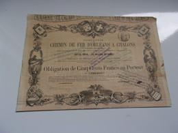 CHEMIN DE FER ORLANS A CHALONS (1873) - Sin Clasificación