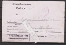 MARCOPHILIE - MILITARIA - COMPIEGNE - FRONTSTALAG 122, Courrier Adressé Par Un Prisonnier Avec 2 Cachets Du Camp - WW II