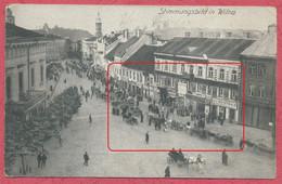 """Wilna Vilnius Lietuva Baltikum :Stimmungsbild - Feldpost  Krieg 14 - 18 / Militär Stempel """" Feldpoststation Nr 166 """" - Litouwen"""