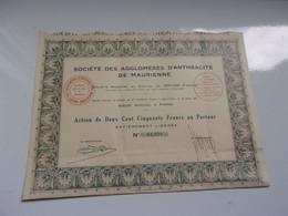 AGGLOMERES D'ANTHRACITE DE MAURIENNE (1925) - Sin Clasificación