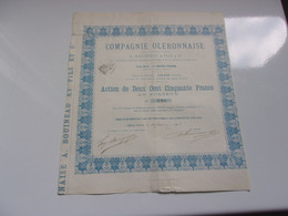 COMPAGNIE OLERONNAISE (A. BOUINEAU & FILS) 1883 - Sin Clasificación