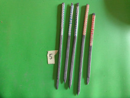 Lot De 5 Ancien Crayon Ardoise En Pierre. - Other