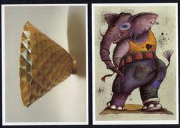 DDR 1987 MiNr. --  Gestempelt /o  16 Bildpostkarten X. Kunstausstellung Der DDR, Dresden - Privatpostkarten - Gebraucht