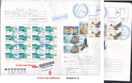 Abkhazia.Custom Letter Abkhazia Russia .. Flags, Eagles - Briefmarken