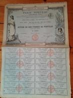 - PARIS NOUVEAU  -1882 - STE IMMOBILIERE  ACTION DE 500 FRS - IMPRIMERIE RICHARD - Sin Clasificación