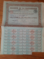 Societe De La MAILLERAYE 1920 PARIS  ACTION DE 500 FRS Au Porteur - Sin Clasificación