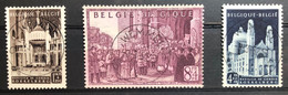 België, 1952, Nr 876-78, OBP 20€, Prachtig Centraal Gestempeld! - Gebraucht