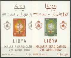 Libyen 1962 Kampf Gegen Die Malaria Block 2/3 Postfrisch (C24415) - Libia