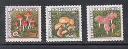 2000 Liechtenstein Mushrooms Fungi  Complete Set Of 3 MNH - Mushrooms
