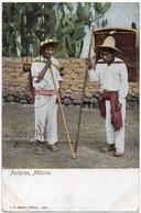"""MEXICO Ca 1920. CIRCULATED COLOURED POSTAL CARD Depicting """"Polleros"""" In México - Mexico"""
