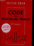 Code De Procédure Pénale - Code Dalloz Expert- Code Pénal - édition 2010 - 51éme édition - Renucci Jean-François, Gayet  - Droit