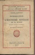 Introduction à L'histoire Sociale De La Russie - Collection Historique De L'Institut D'Etudes Salves N°3 - Plékhanov Geo - Géographie