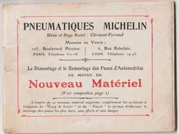 Livret 62 Pages Pneumatiques Michelin Démontage Remontage Des Pneus Avec Nouveau Matériel 11 Photos Dessins Texte RARE - Auto