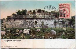 MEXICO Ca 1920. CIRCULATED COLOURED POSTAL CARD Depicting The Xochicalco Ruins - Mexico