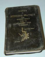 LIVRE NOTES MEDECINE PRATIQUE G. DETHAN 1906 EURYTHMINE Médicament Anti Douleur COLLECTION LIVRE ANCIEN VITRINE - 1901-1940